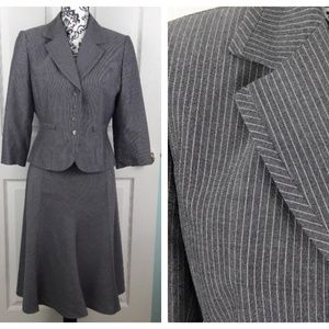 Tahari Gray Pinstripe Skirt 2 pc. Suit